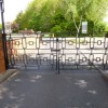 Newton Road Art Deco Vehicle Access Gates New to Match Exisiting